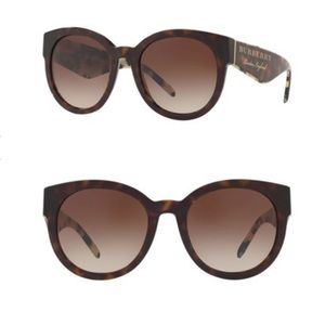 Burberry 54mm Round Sunglasses